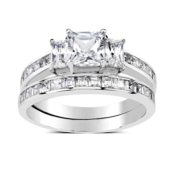 SILVEGO dvojitý prsten ze stříbra se Swarovski(R) Crystals - zvětšit obrázek 34ceea1111f
