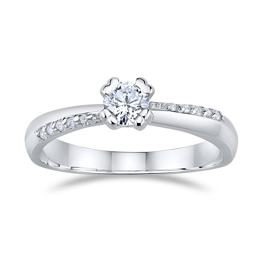 SILVEGO zásnubní stříbrný prsten se Swarovski(R)Crystals - stribro ... 97a8a361d67