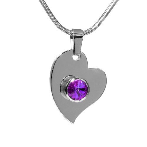 Ocelový přívěsek srdce se Swarovski Elements - stribro-klenoty.cz 9af72377582